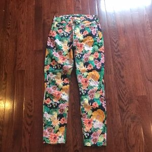 7 For All Mankind Skinny Jean - FLORAL